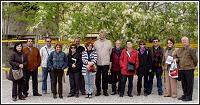 Grupo de socios en el Campus de Espinardo en la jornada del 17 de abril