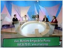 Mesa del programa ¿Qué sabemos? del Canal 7 Región de Murcia el día 27 de Abril de 2007. Momento de la intervención, en representación de la Asociación, de Gemma López Vélez y Rosa María Ros (ambas a la izquierda de la imagen).