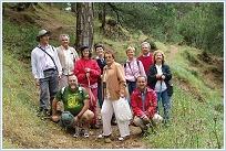 Algunos de los asistentes a la visita guiada al entorno de los Chorros del Río Mundo. © Foto: Antonio Martínez Cano