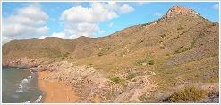 El Cabezo de la Fuente y la playa de Parreño (calas nudistas) desde Punta de Negrete
