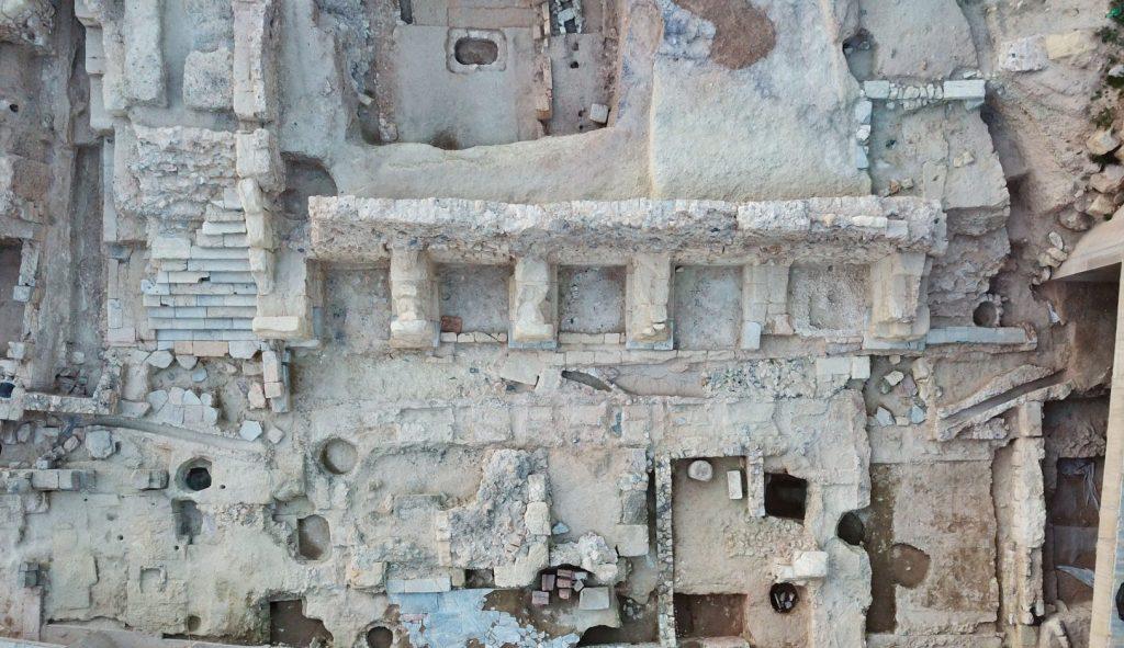 Foto aérea del Foro romano del Molinete