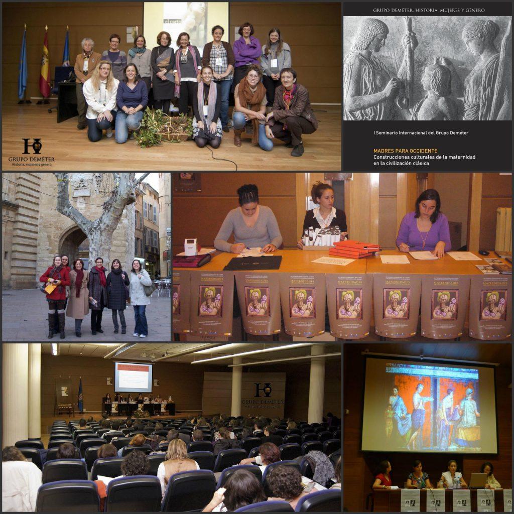 Distintas actividades y congresos del grupo Deméter