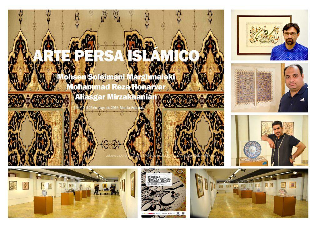 ARTISTAS PERSAS que expusieron su obra en las Jornadas de Arte y Cultura Persas en Murcia del 10 al 25 mayo 2016