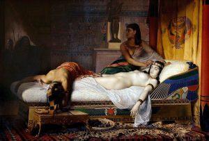 """""""La muerte de Cleopatra"""" (1874), de Jean André Rixens (1846-1924). Musée des Augustins (Toulouse)."""