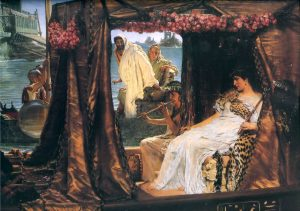 Marco Antonio y Cleopatra, de Sir Lawrence Alma-Tadema