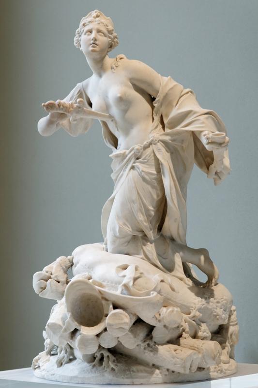 """La muerte de Dido"". Autor:Augustin Cayot , 1711. Museo del Louvre"