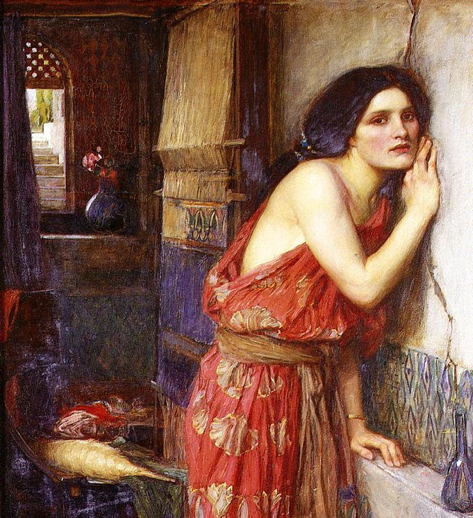 """Thisbe"" de John William Waterhouse. 1909. Romanticismo."