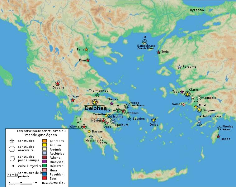 Mapa Delfos