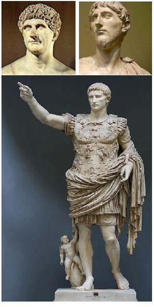 II Triunvirato romano (S.I a.C.). Generales romanos: Marco Antonio, Lépido y Octavio Augusto. Fuentes de las imágenes: http://bit.ly/2kI9frG ; http://bit.ly/2m4x1ib ; http://bit.ly/2l8r2od