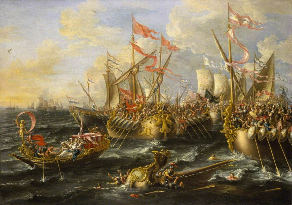 Castro, Lorenzo a; The Battle of Actium, 2 September 31BC; National Maritime Museum; http://www.artuk.org/artworks/the-battle-of-actium-2-september-31bc-173190