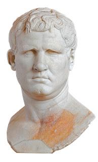Marco Vipsanio Agripa . General y político romano. (S.I aC.). Amigo íntimo, colaborador, general y encargado de los asuntos militares de Octaviano, el futuro emperador César Augusto. Fuente de la imagen: http://bit.ly/2mimJqv