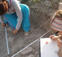Drawing archaeological field