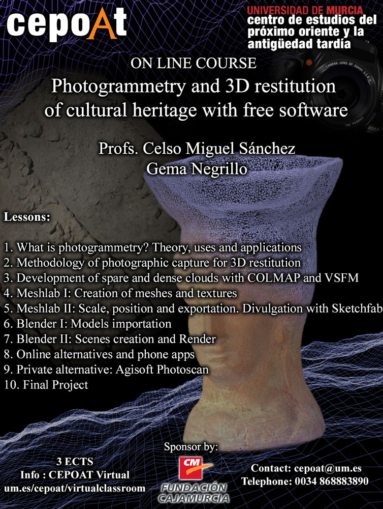 Photogrammetry and 3D restitution of cultural heritage with