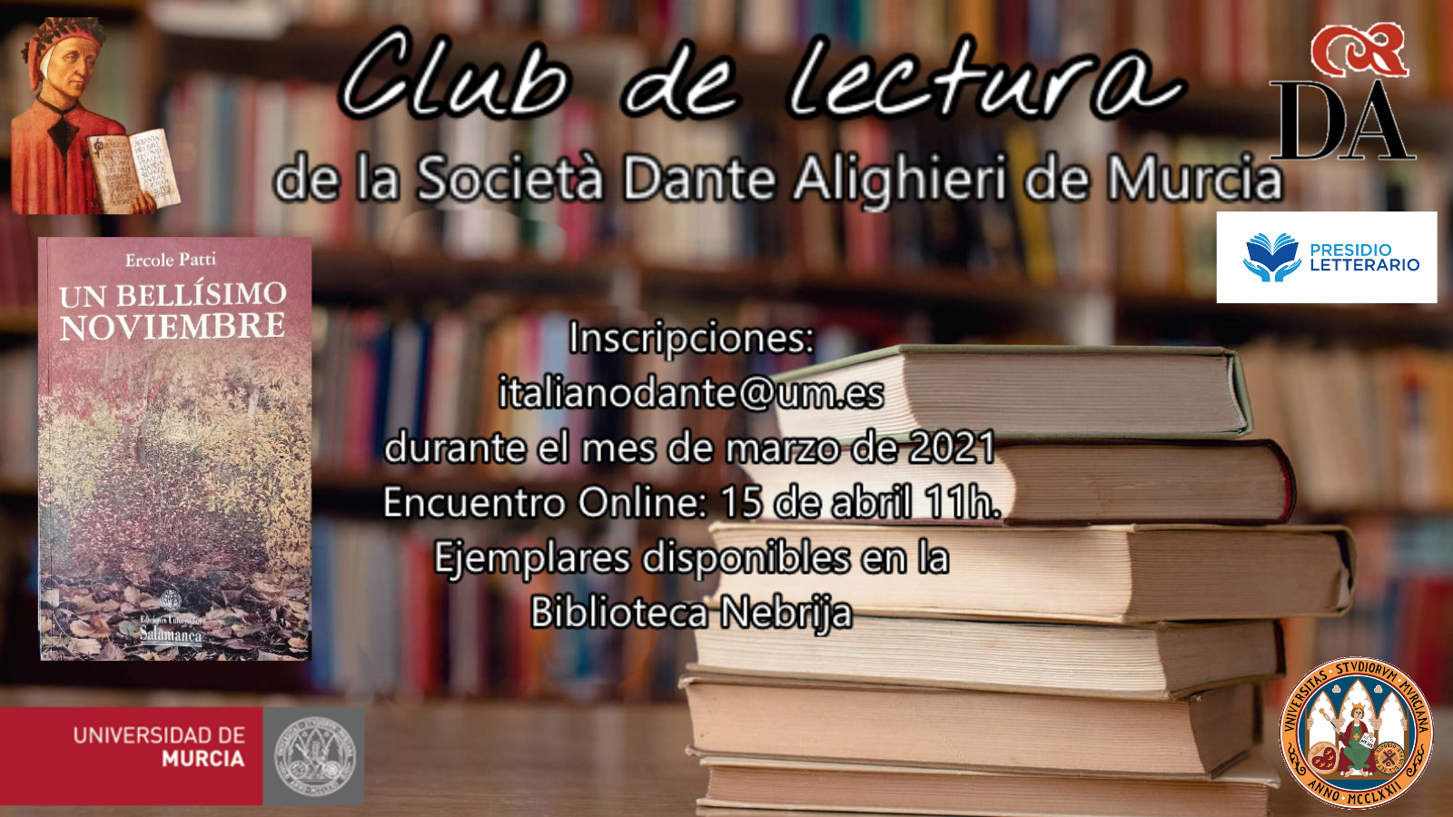 Cartel Club lectura D.A