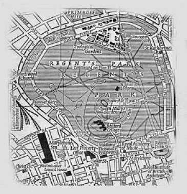 Plano parque Regent's Park