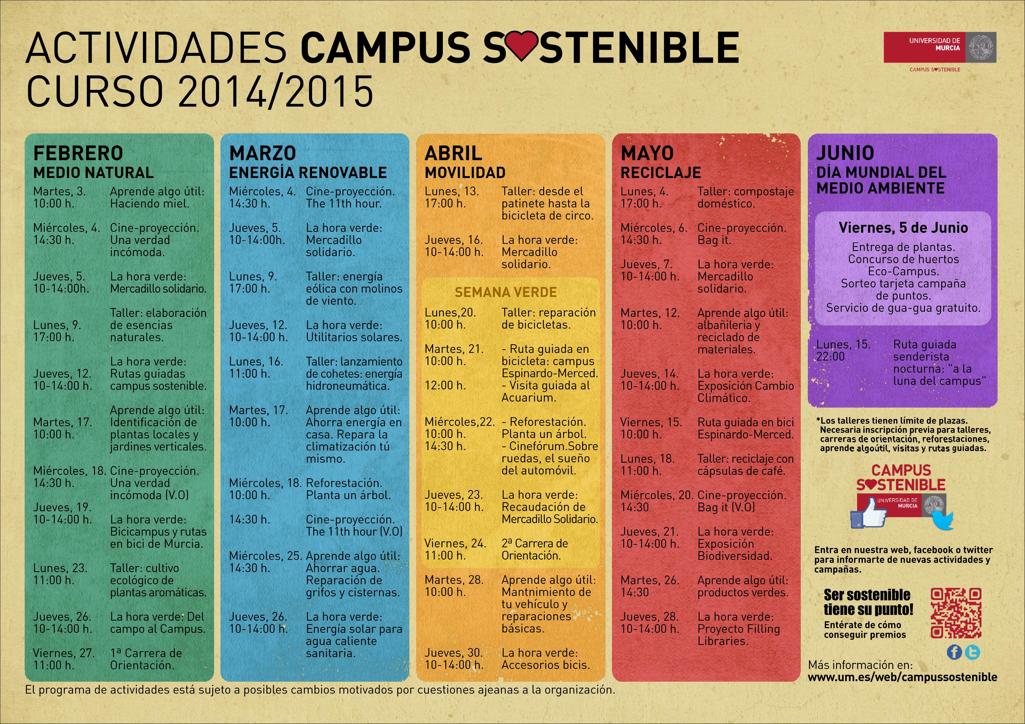 Renovamos calendario de actividades en 2015 - Visualizador de ...