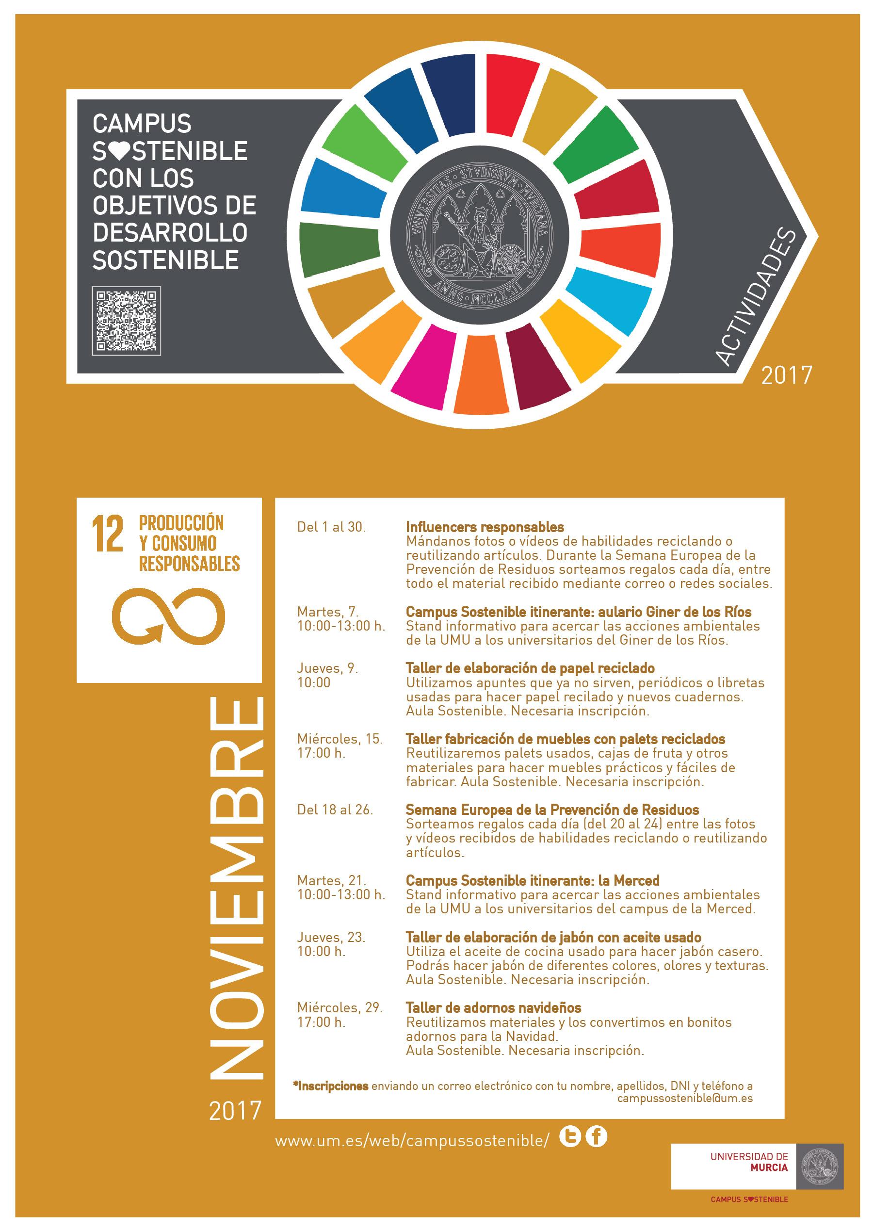 Noviembre en Campus Sostenible (agenda de actividades ...