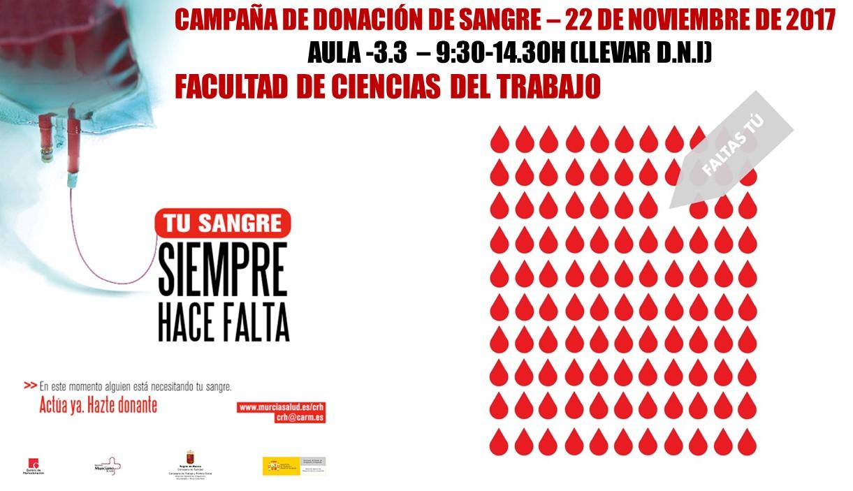 Campaña de hemodonación Facultad de Ciencias del Trabajo 2017