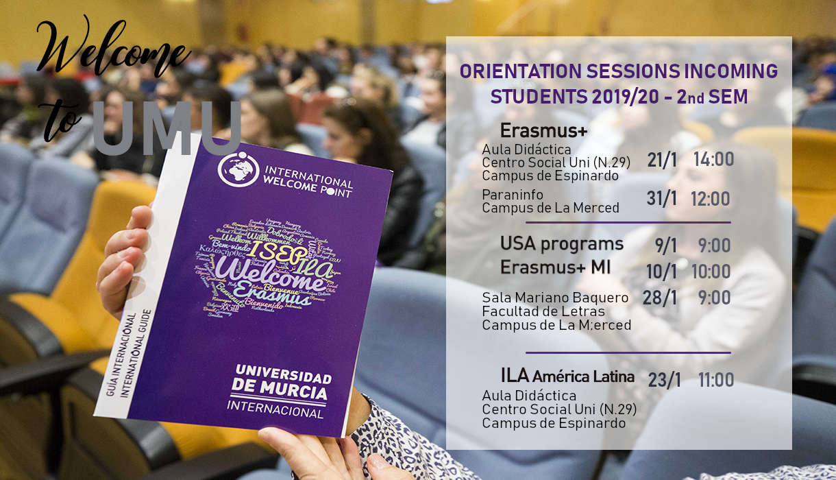 Orientation Sessions Incoming students 2019-20 - 2nd Semester