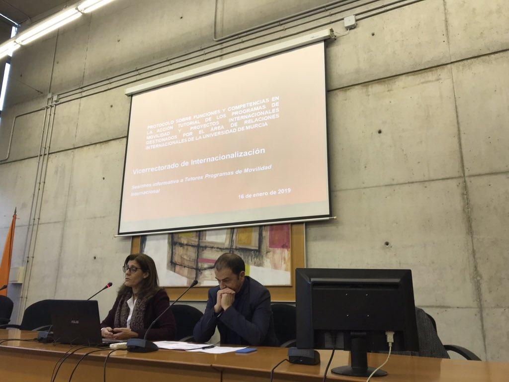 Presentado un protocolo de acción tutorial de los programas de movilidad internacional de la UMU