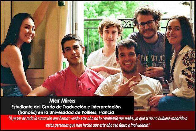 Relatos desde el confinamiento: Mar Miras, estudiante UMU en Francia