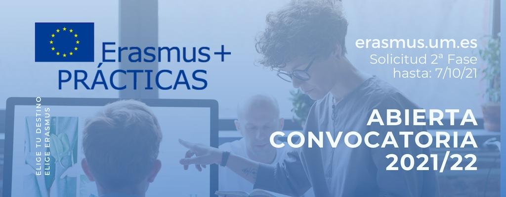 Abierta la segunda fase de la convocatoria Erasmus+ Prácticas 2021-22: realiza tus prácticas en empresas e instituciones de toda Europa