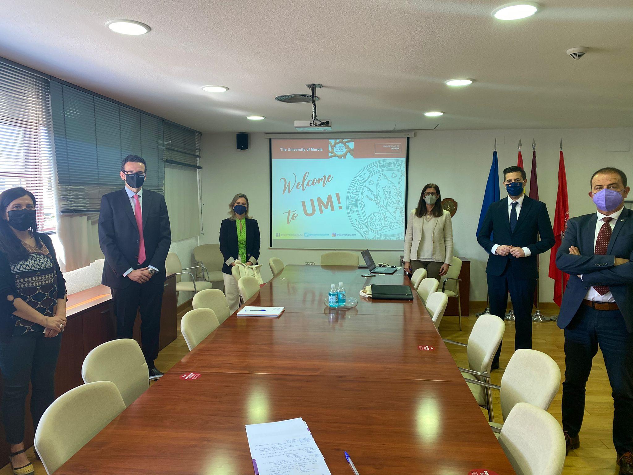 Reunión del equipo de internacionalización con la Dirección General de Unión Europea de la CARM