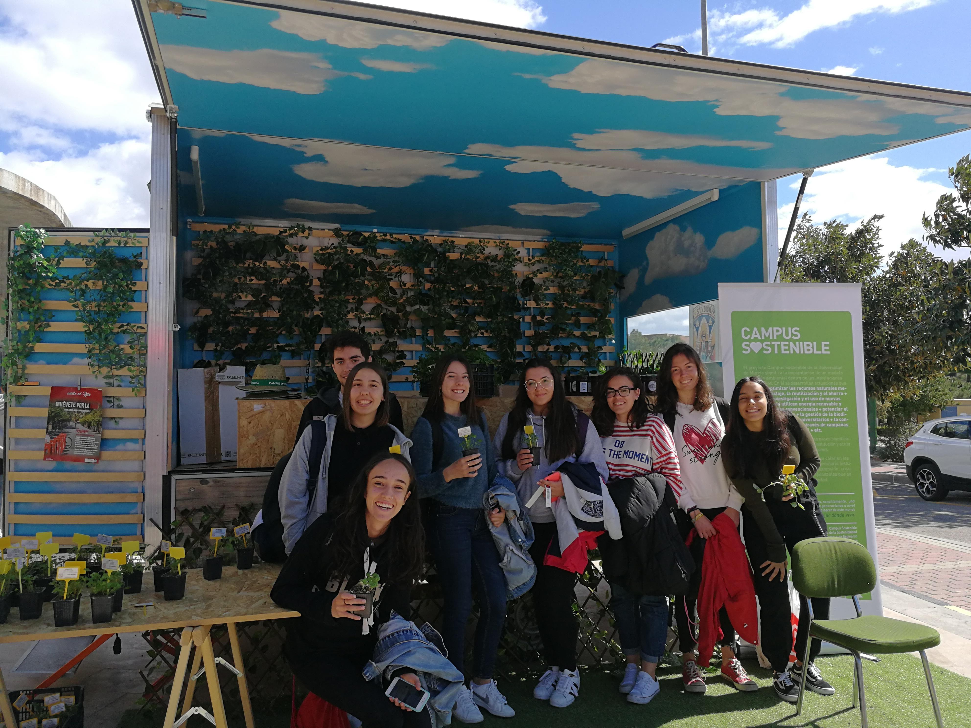 Caravana de Campus Sostenible en el Centro Social Universitario. UMU.