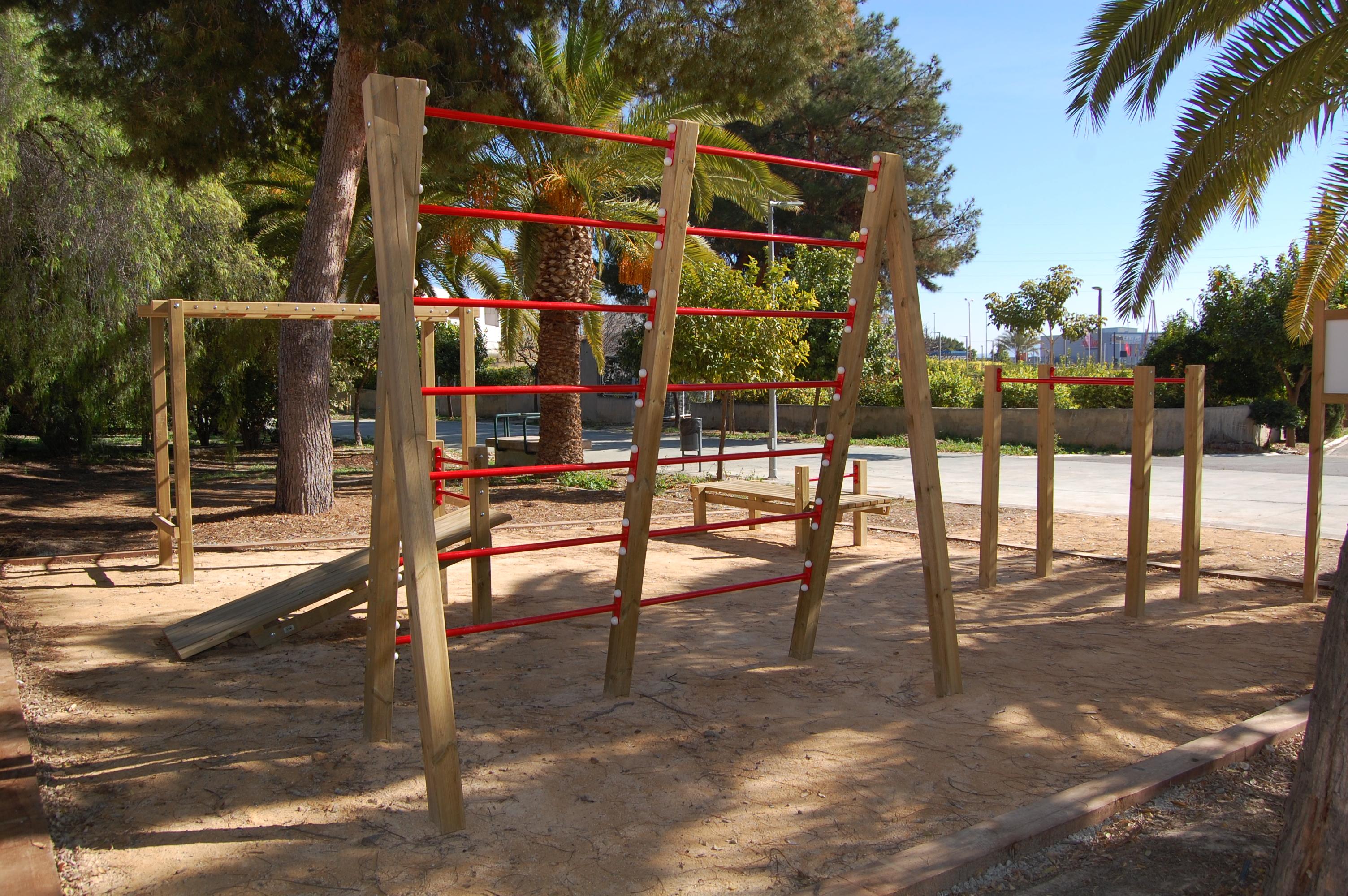 Área Calistenia Universidad de Murcia. Campus Sostenible.