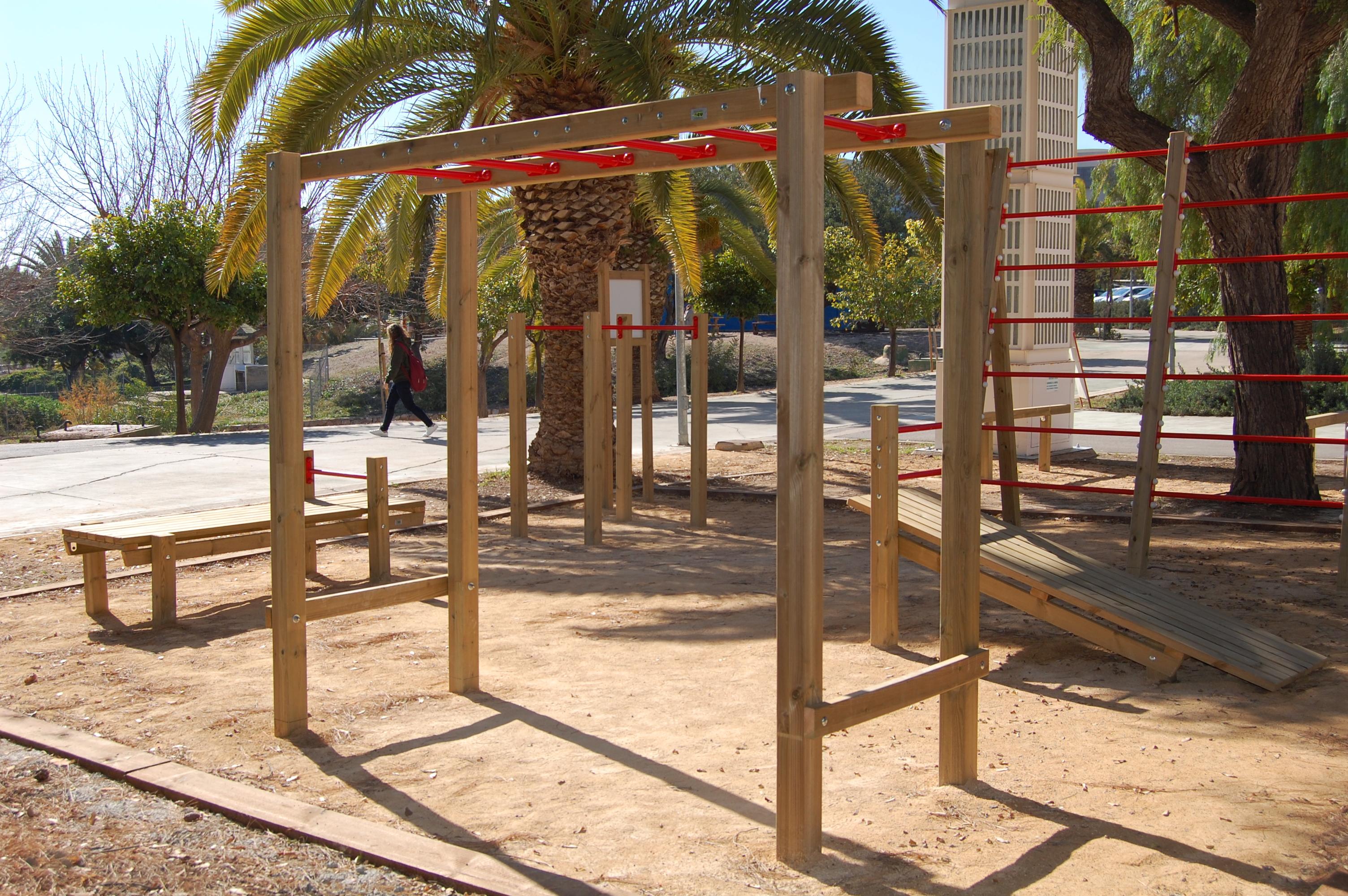 Área Calistenia Universidad de Murcia. Campus Sostenible