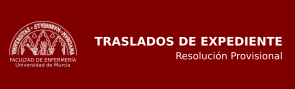 Resolución Provisional Traslado de Expediente