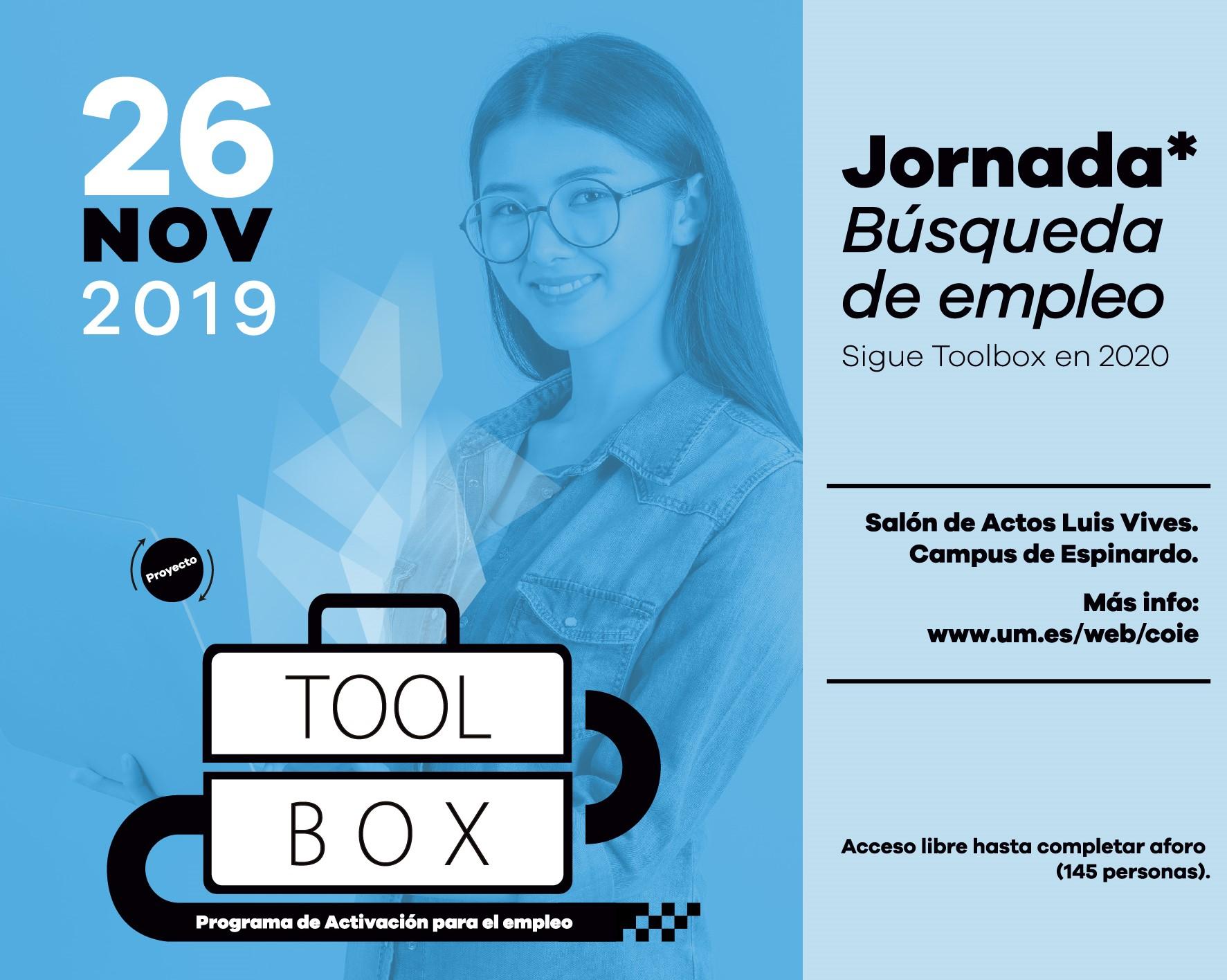 Jornada de búsqueda de empleo. Proyecto TOOLBOX.