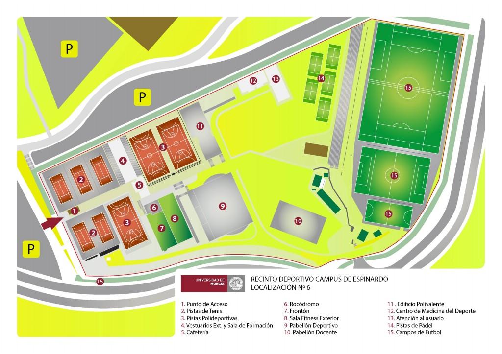Recinto deportivo de espinardo universidad de murcia for Gimnasio 9 y 57