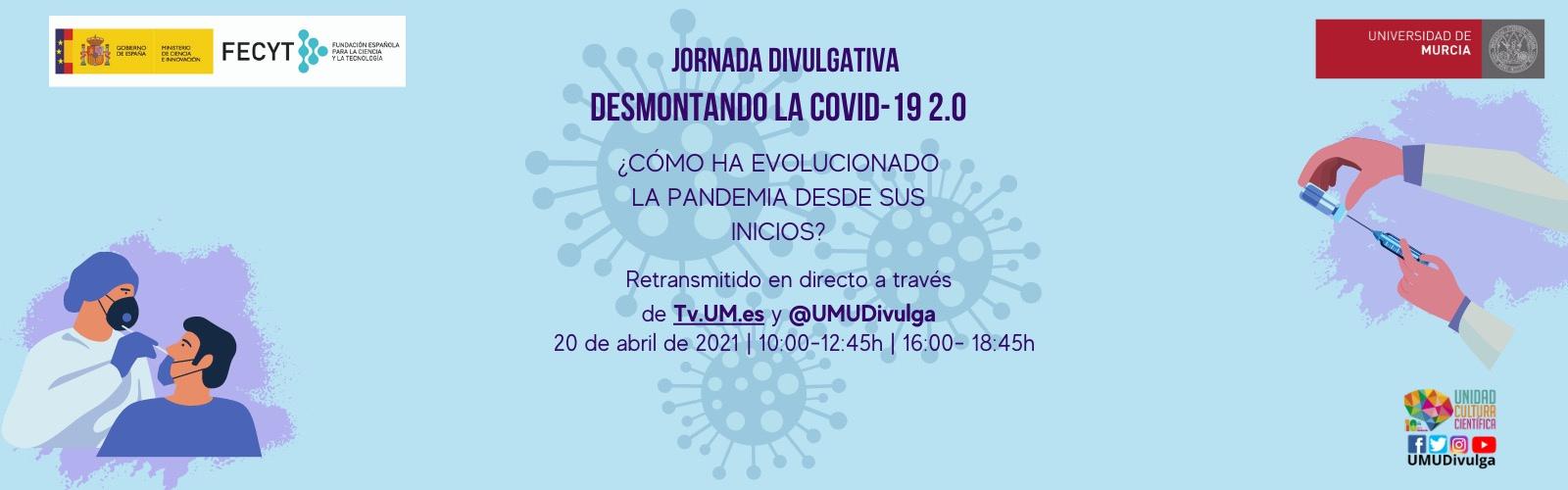 Jornada divulgativa UMU para conocer la evolución de la pandemia