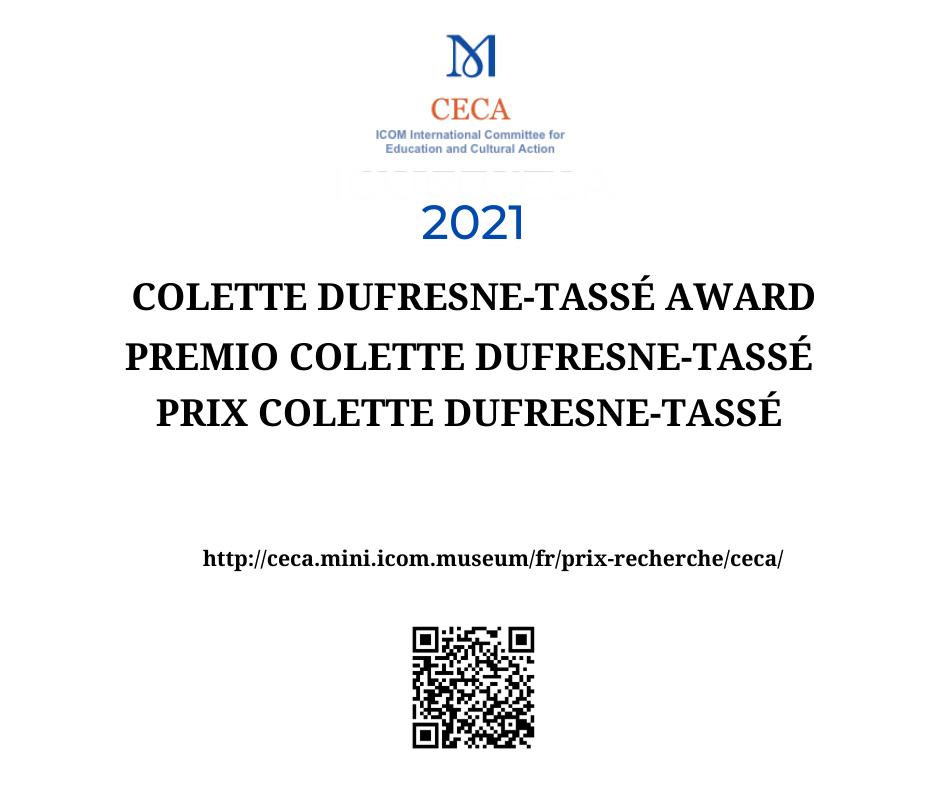 Premio Colette Dufresne-Tassé ICOM CECA 2021