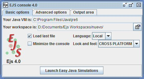 Easy Java Simulations Wiki | Main / ConsoleBasicOptions