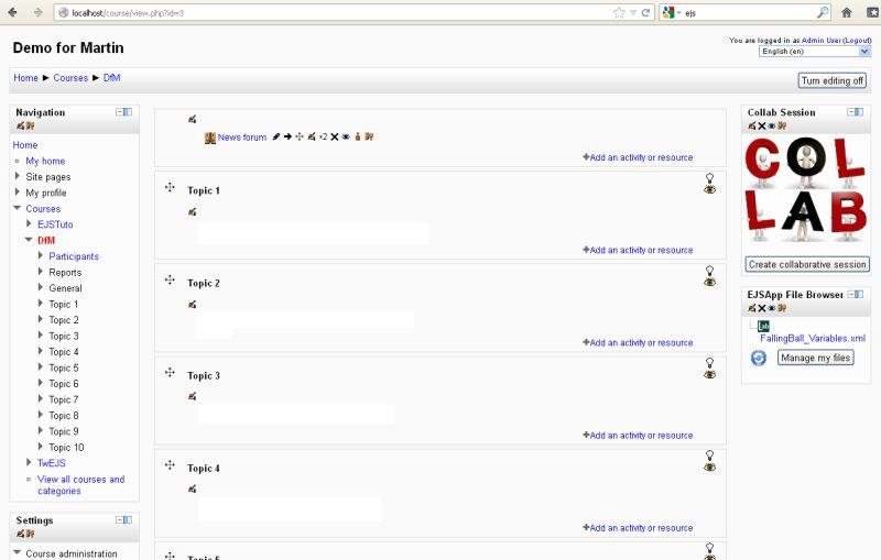 Easy Java Simulations Wiki   Main / UsingEJSWithMoodle