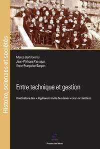 Portada libro Entre technique et gestion