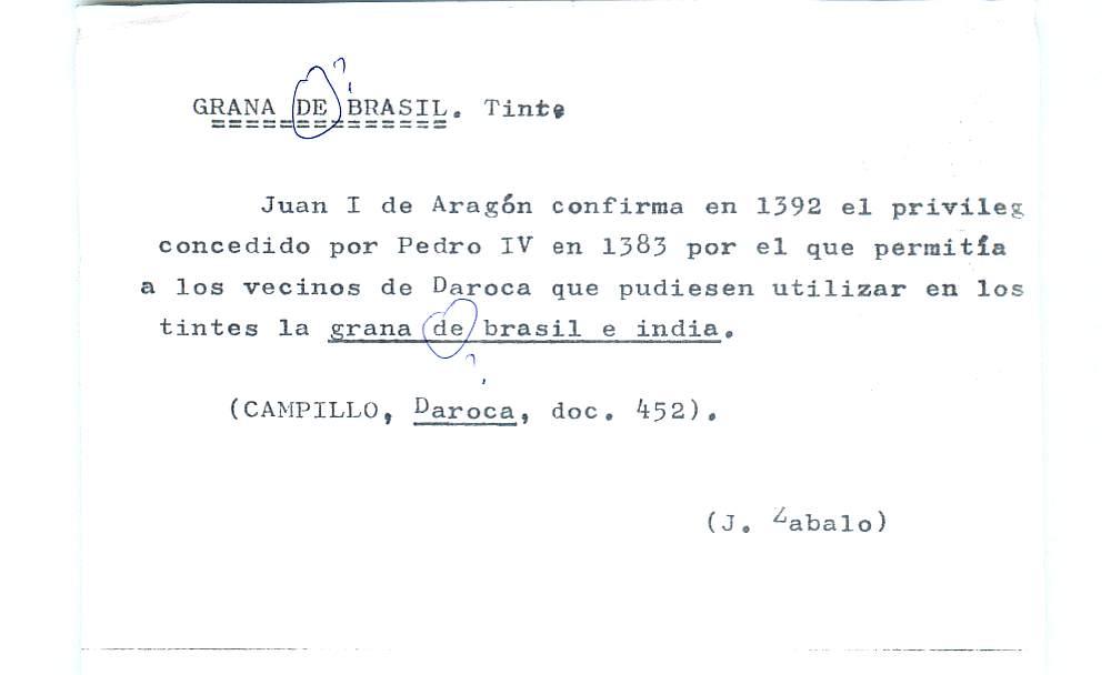 Vista ampliada de la ficha escaneada por la fundación Juan March con el texto para la entrada grana ( 4 de 28 )