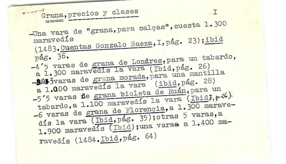 Vista ampliada de la ficha escaneada por la fundación Juan March con el texto para la entrada grana ( 5 de 28 )