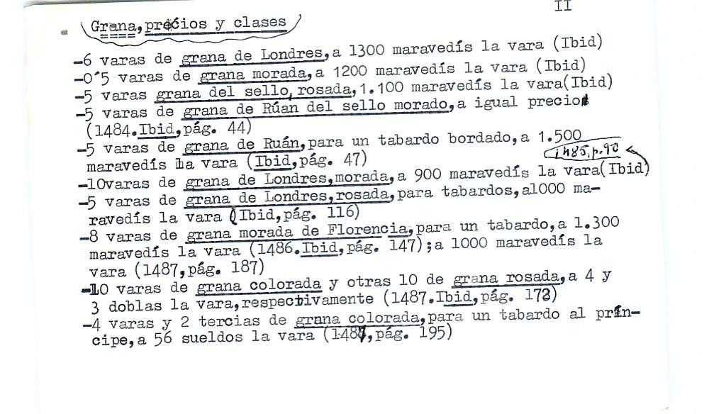 Vista ampliada de la ficha escaneada por la fundación Juan March con el texto para la entrada grana ( 6 de 28 )