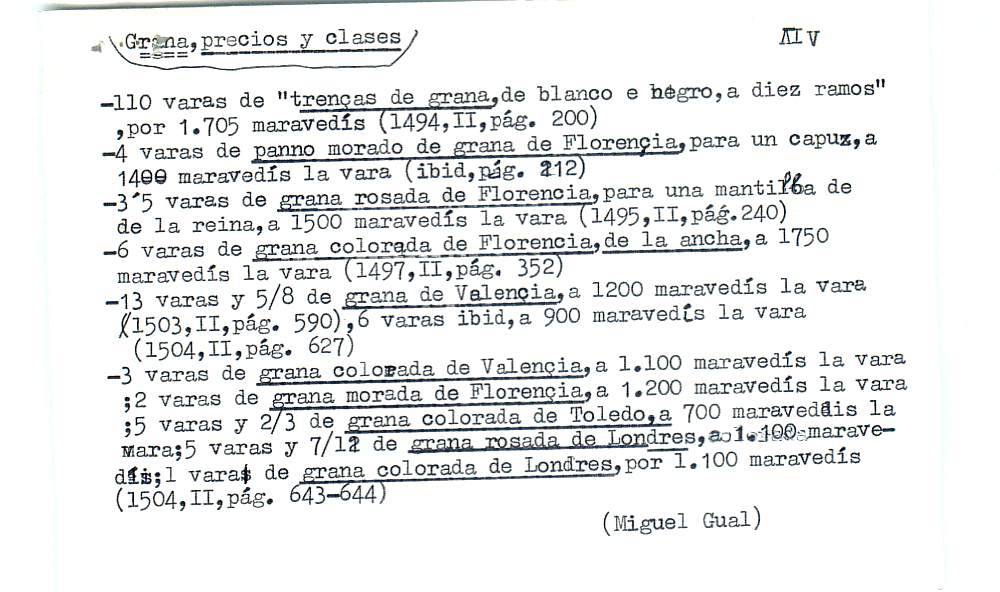 Vista ampliada de la ficha escaneada por la fundación Juan March con el texto para la entrada grana ( 8 de 28 )