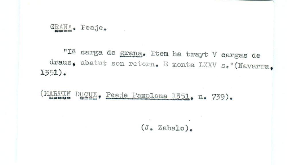 Vista ampliada de la ficha escaneada por la fundación Juan March con el texto para la entrada grana ( 14 de 28 )