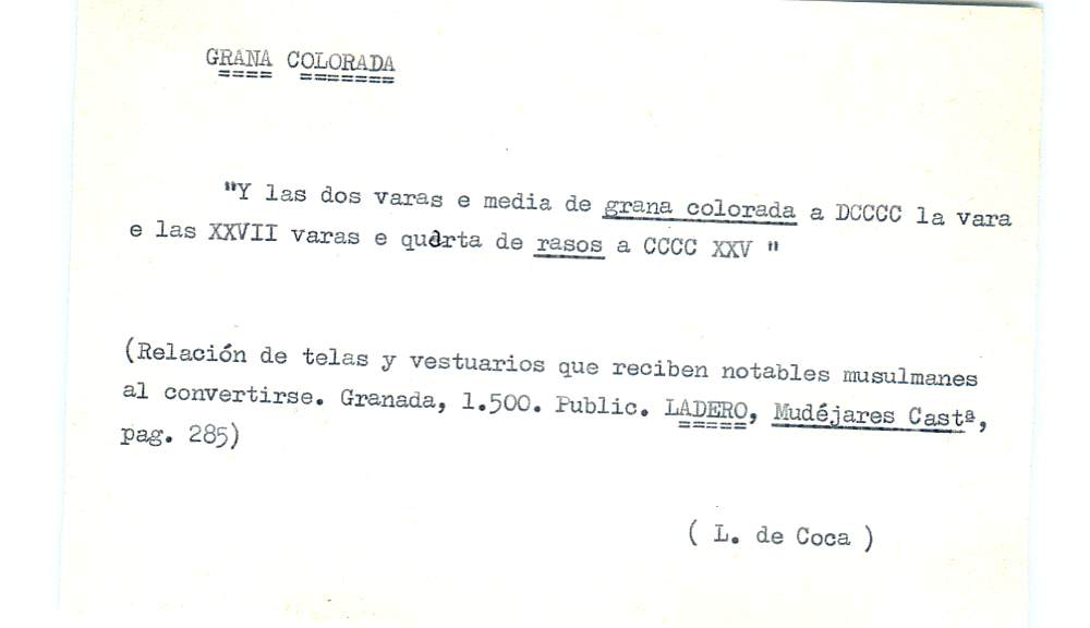 Vista ampliada de la ficha escaneada por la fundación Juan March con el texto para la entrada grana ( 18 de 28 )