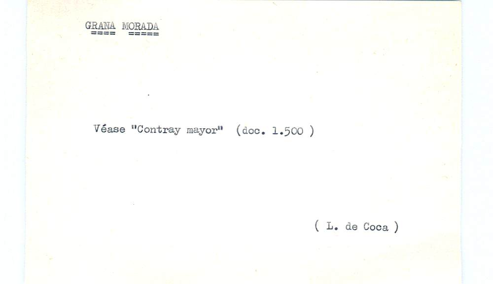 Vista ampliada de la ficha escaneada por la fundación Juan March con el texto para la entrada grana ( 23 de 28 )