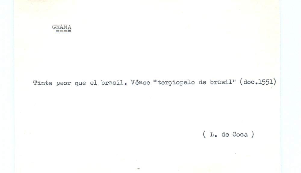 Vista ampliada de la ficha escaneada por la fundación Juan March con el texto para la entrada grana ( 24 de 28 )