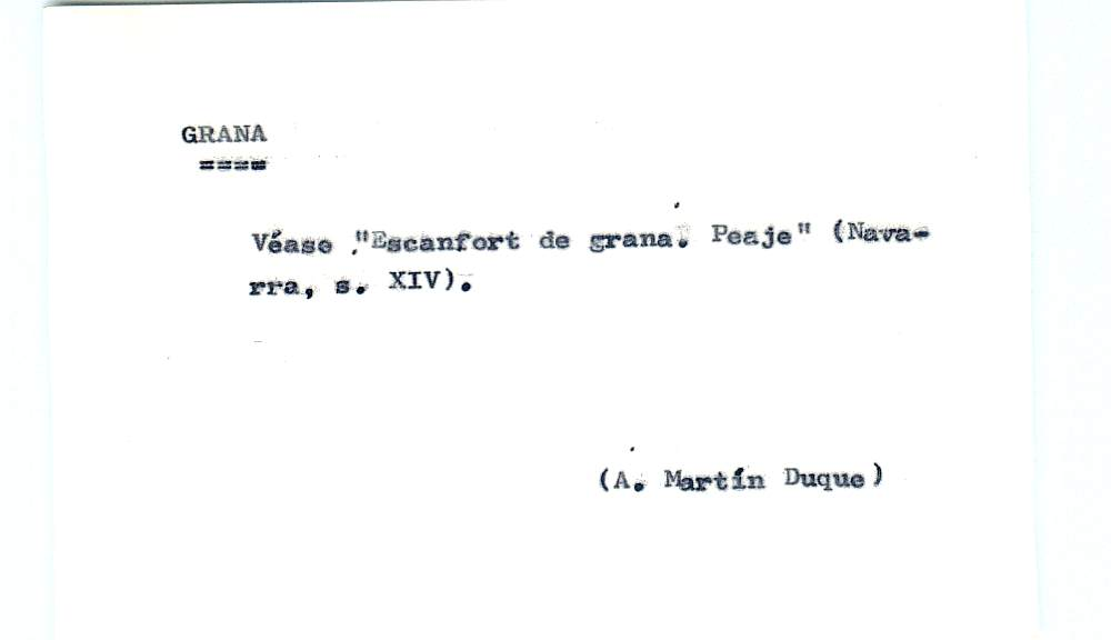 Vista ampliada de la ficha escaneada por la fundación Juan March con el texto para la entrada grana ( 25 de 28 )