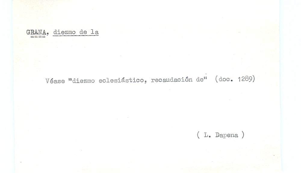 Vista ampliada de la ficha escaneada por la fundación Juan March con el texto para la entrada grana ( 26 de 28 )