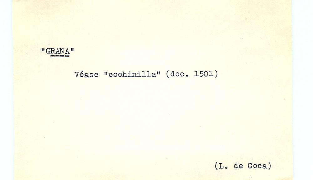 Vista ampliada de la ficha escaneada por la fundación Juan March con el texto para la entrada grana ( 27 de 28 )