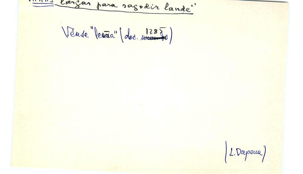 Vista ampliada de la ficha escaneada con el texto para la entrada vara ( 3 de 3 )